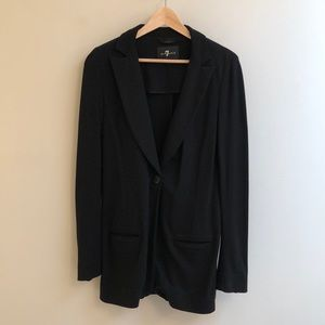 7 For All Mankind: Black Jacket S